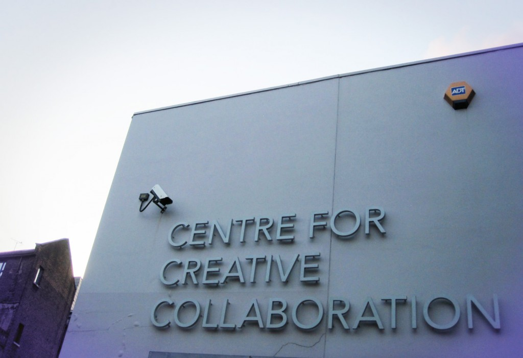Open Knowledge Foundation at the Centre for Creative Collaboration, London. front sign!