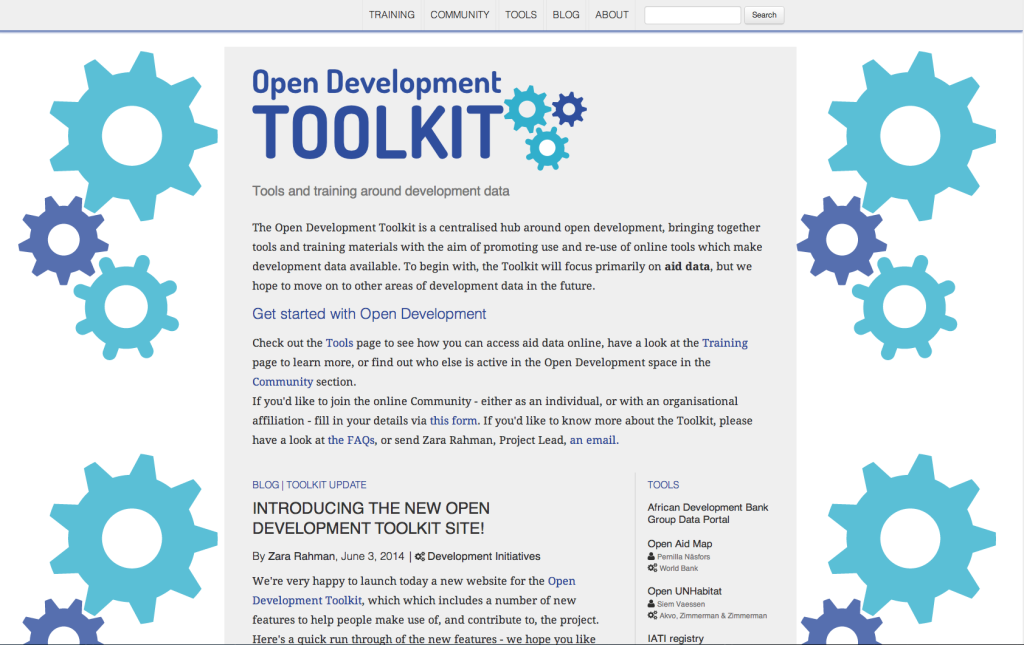 Open Development Toolkit screenshot