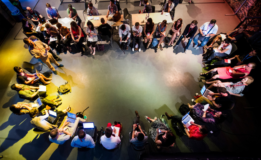 Open Knowledge Foundation-Festival 2014 at Kulturbrauerei in Berlin.