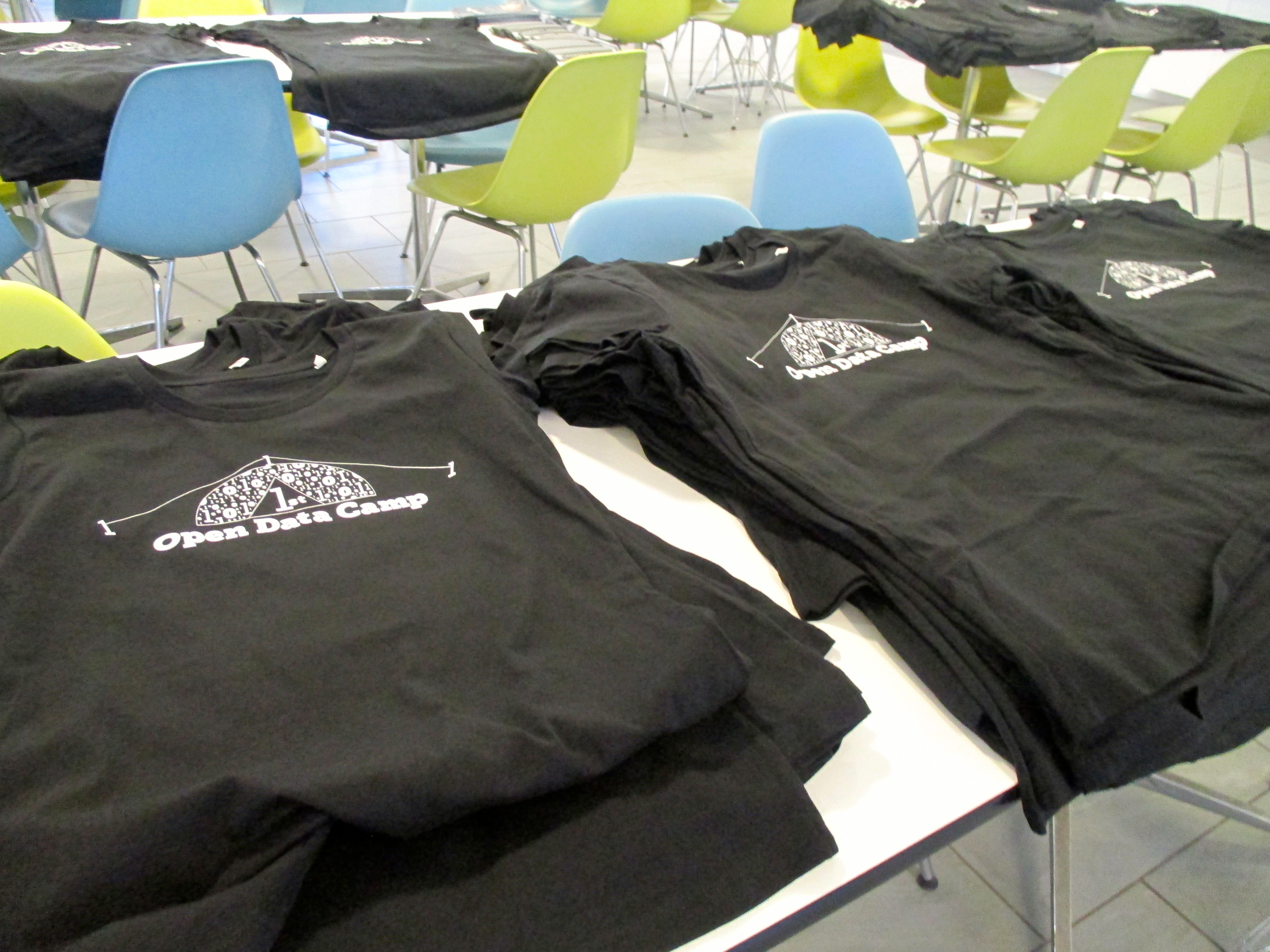 Open Data Camp t-shirts
