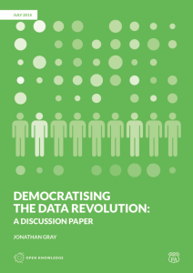 Democratising the Data Revolution