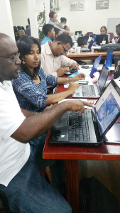 Geography and IT Teachers editing OSM in Georgetown Guyana