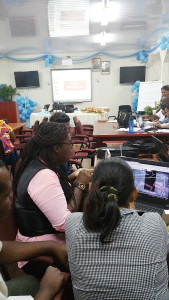 Geography and IT Teachers editing OSM in Georgetown Guyana 2