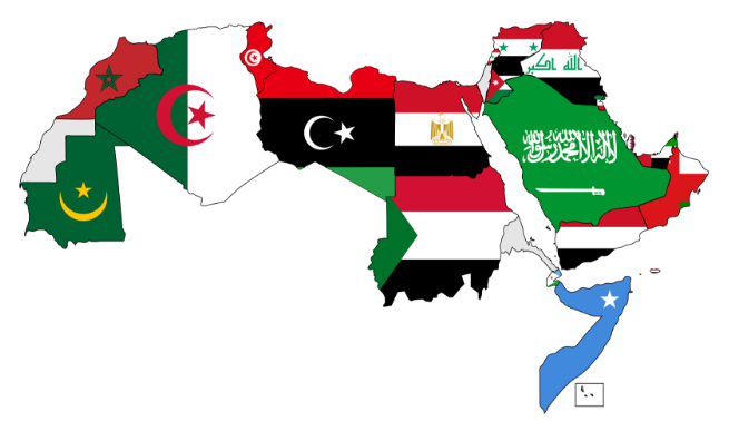 """Map of Arabic-speaking countries"""